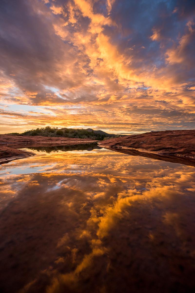 sedona arizona monsoon sunset