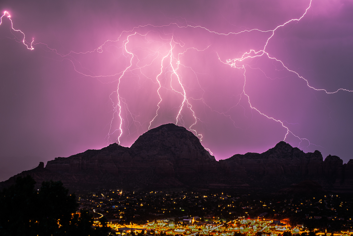 lightning is Sedona Arizona