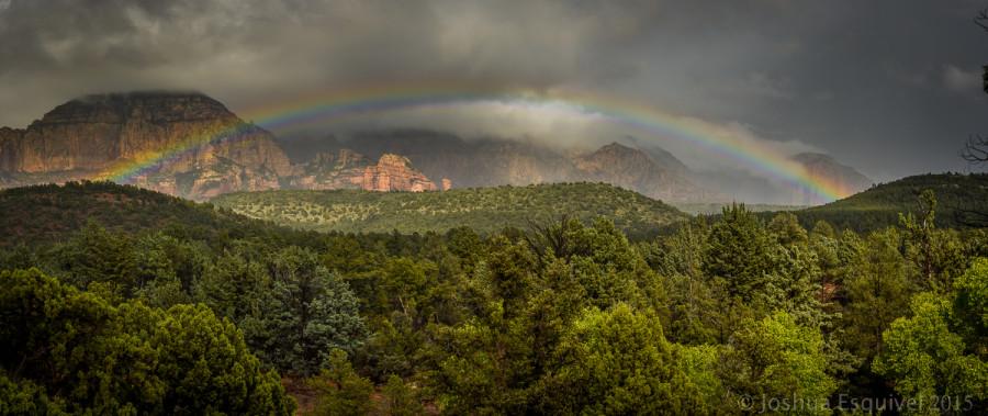 rainbow in Sedona, Arizona