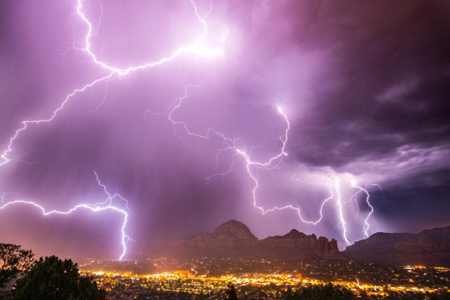lightning during monsoon season