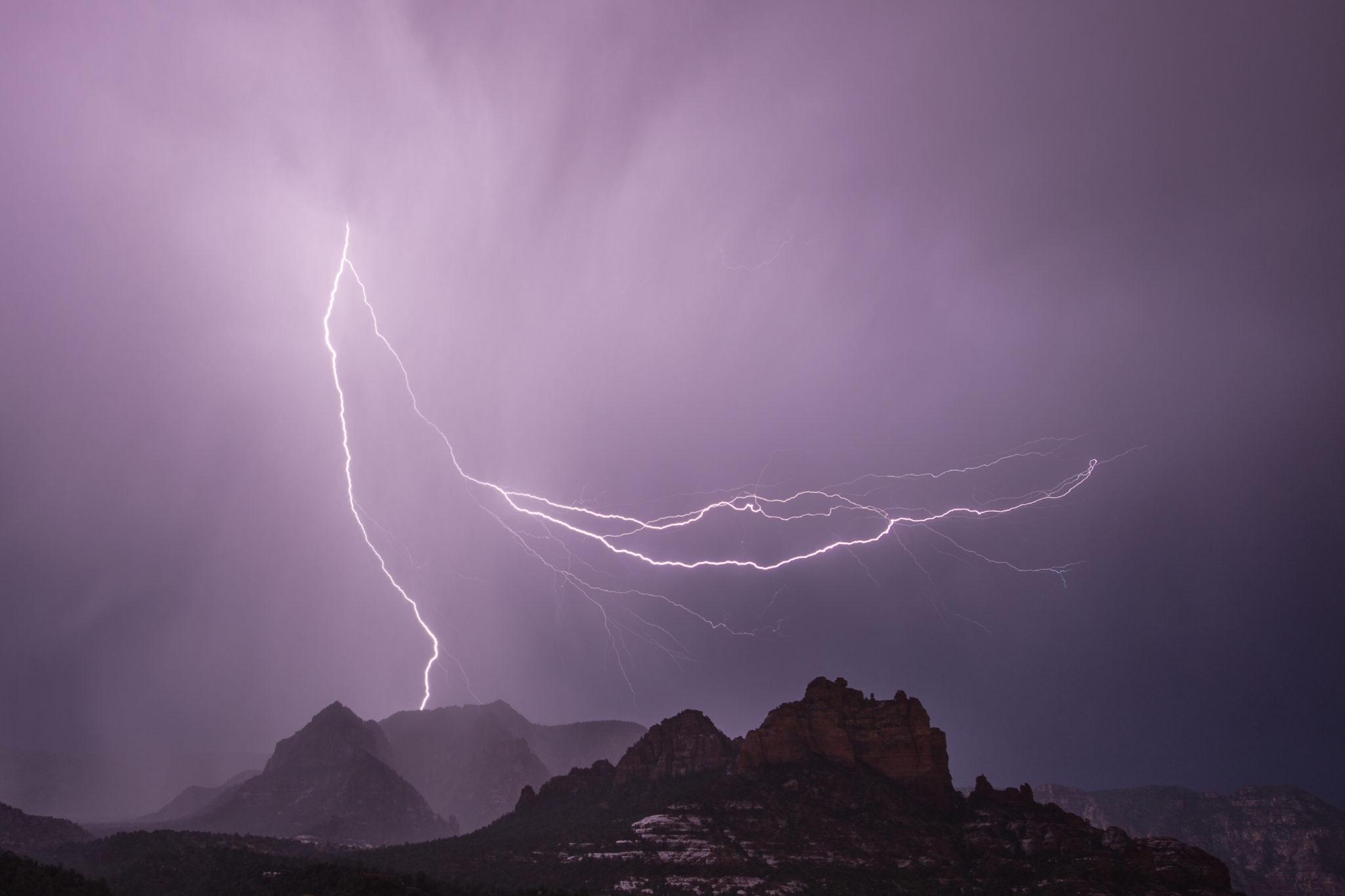 lightning picture in Sedona