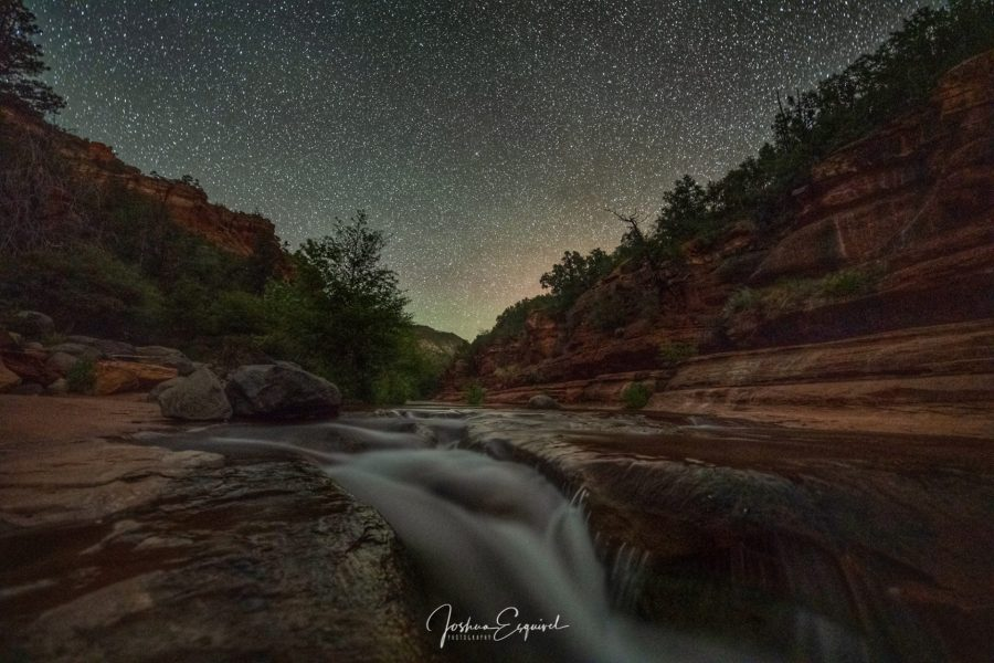 Slide Rock at Night