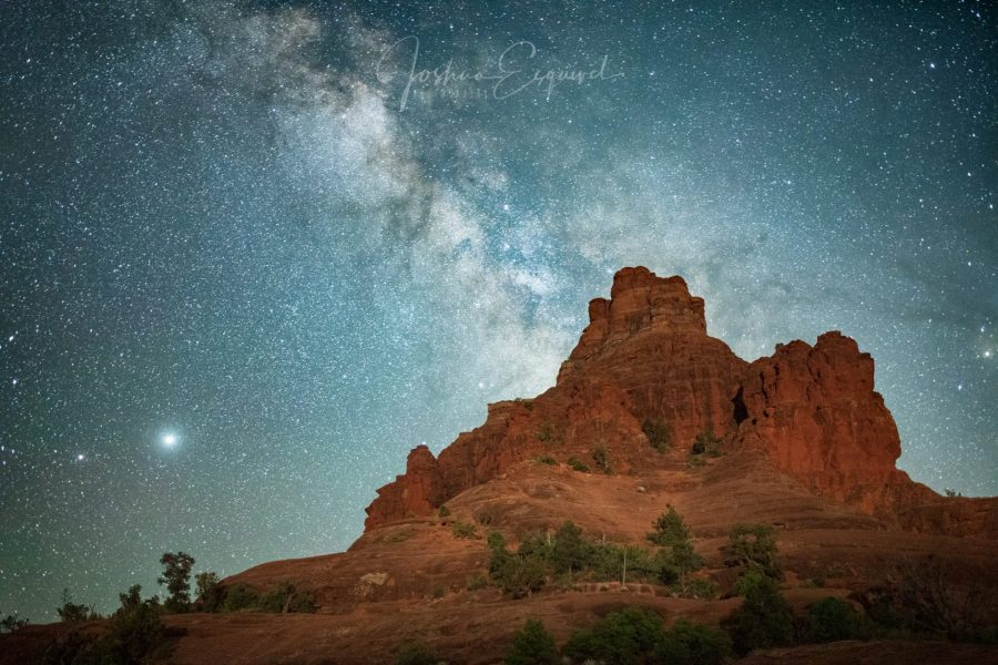 Bell Rock at night